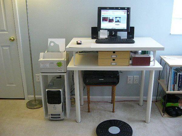 diy double table computer desk
