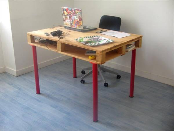 pallet desk out of pallet wood