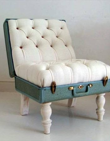 old trunk creative cushioned chair