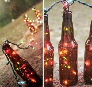 reclaimed bottle table runner