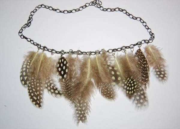 diy chic feather necklace