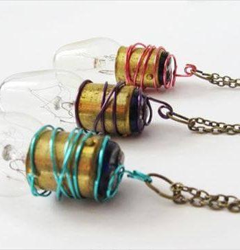 DIY lightbulb necklace