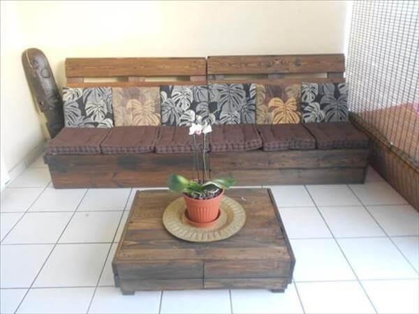 handmade pallet living room sitting furniture