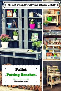 10 DIY Pallet Potting Bench Ideas