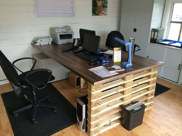 DIY Office pallet desk pattern