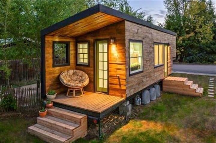 stylish pallet house