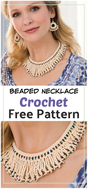 Beaded Necklace Free Crochet Pattern