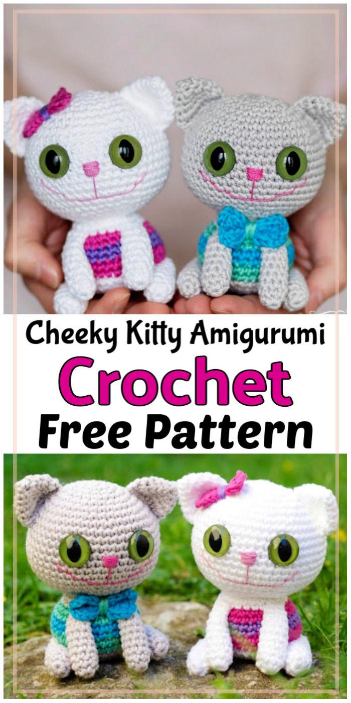 Cheeky Kitty Amigurumi Free Crochet Pattern