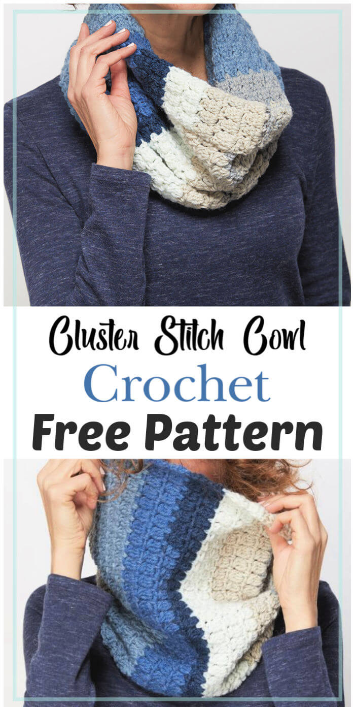 Cluster Stitch Cowl Free Crochet Pattern