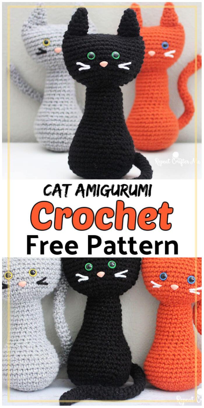 Crochet Cat Amigurumi Free Pattern