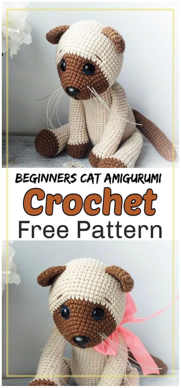 Crochet Cat Amigurumi for Beginners Free Pattern