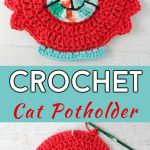 Crochet Cat Potholder Free Pattern 1