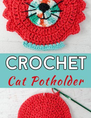 Crochet Cat Potholder Free Pattern 1