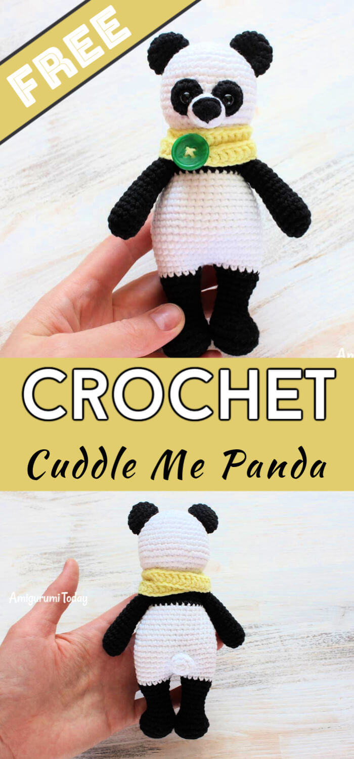 Adorable Panda Bear Amigurumi Free Crochet Pattern - All Crochet ... | 1500x700