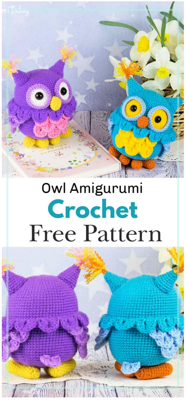 Owl Amigurumi Pattern Cutest Crochet Ideas Video Tutorial | 1500x700