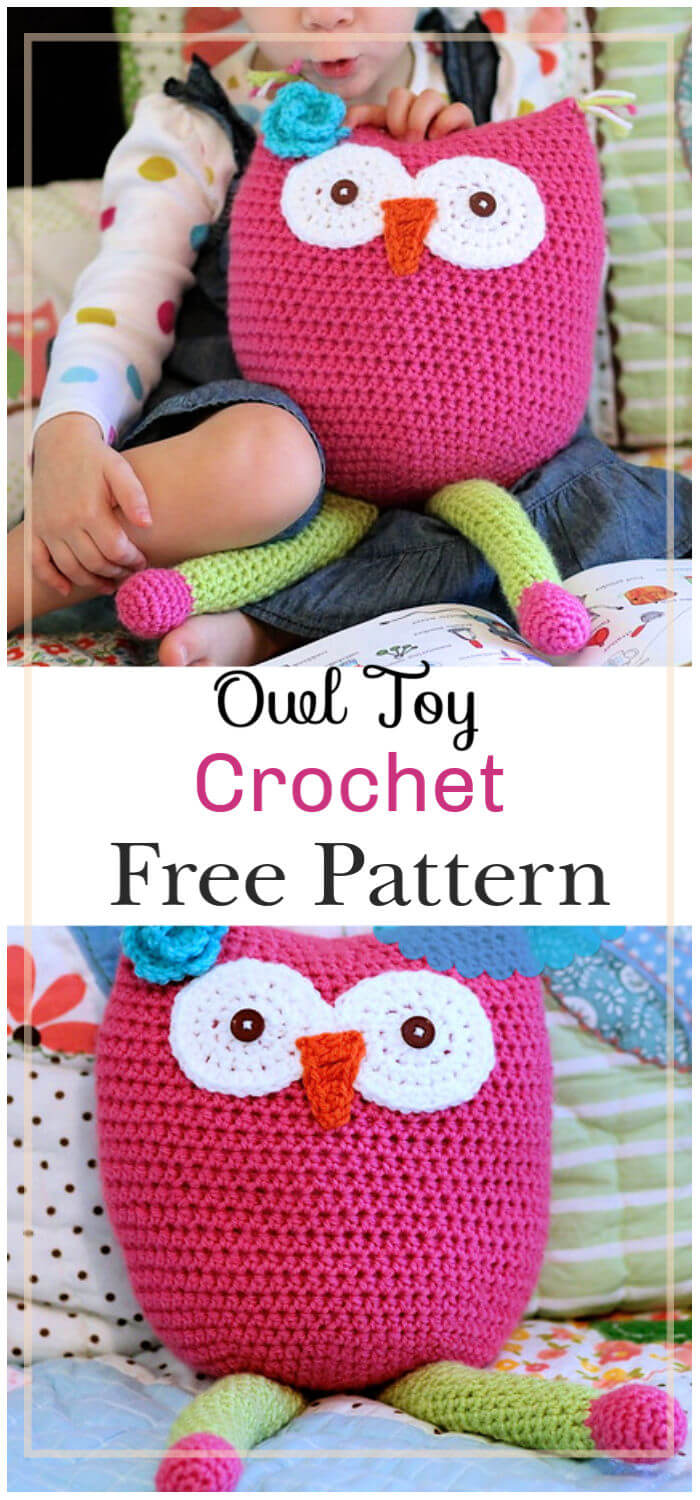 Crochet Owl Toy Free Pattern