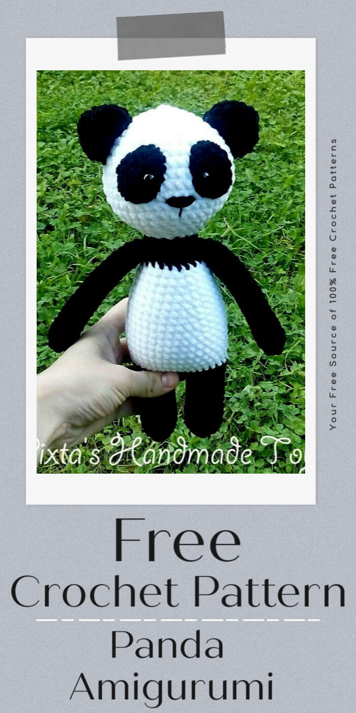 How to crochet amigurumi Panda / animal crochet tutorial - YouTube | 1400x700
