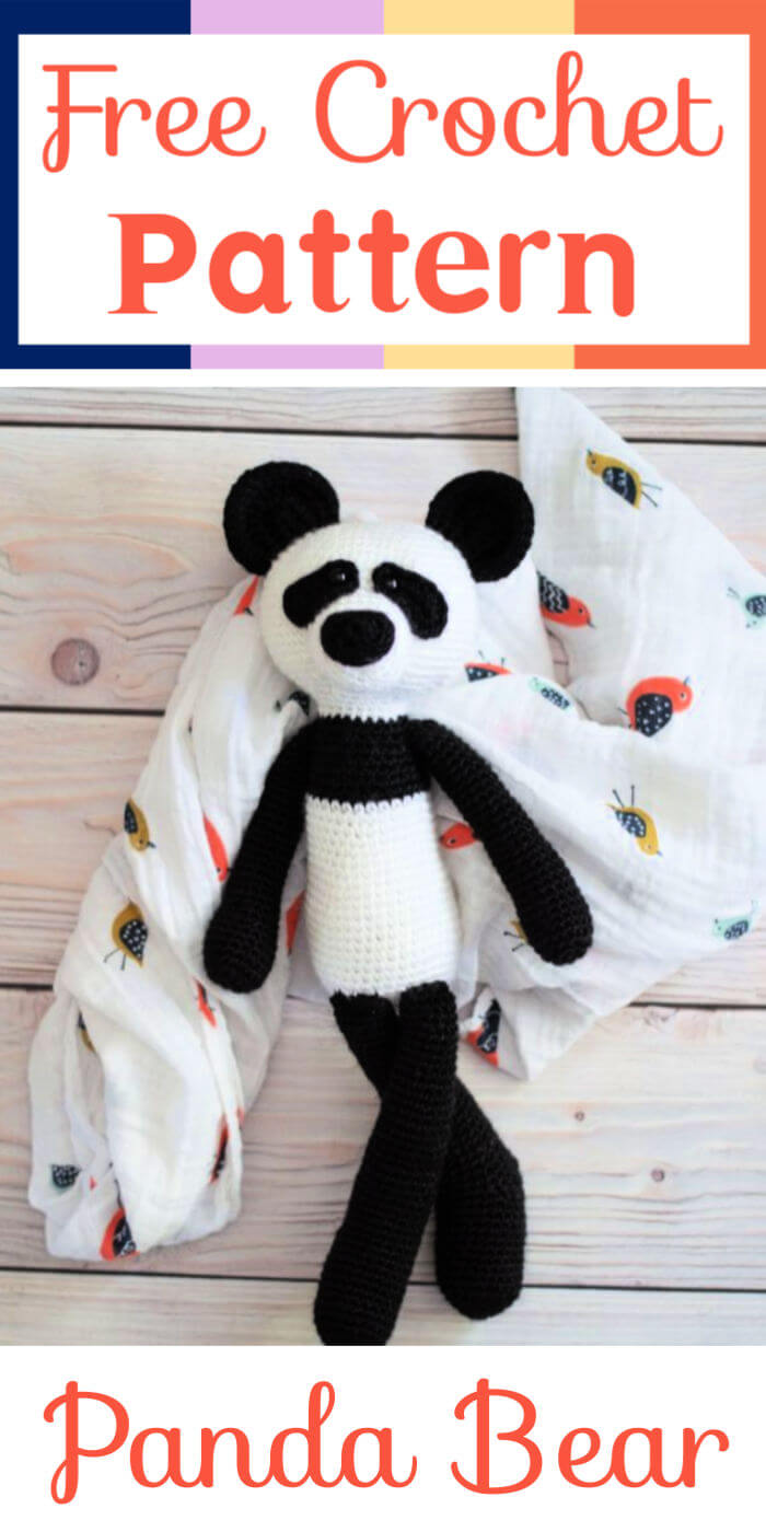 Amigurumi Panda Bear Crochet Pattern Printable PDF #ad #amigurumi ... | 1400x700