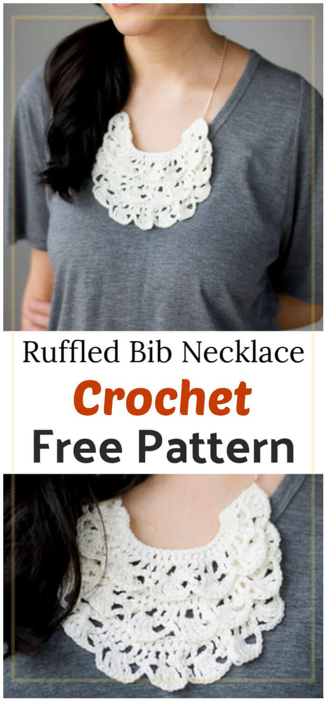 Crochet Ruffled Bib Necklace Free Pattern 1