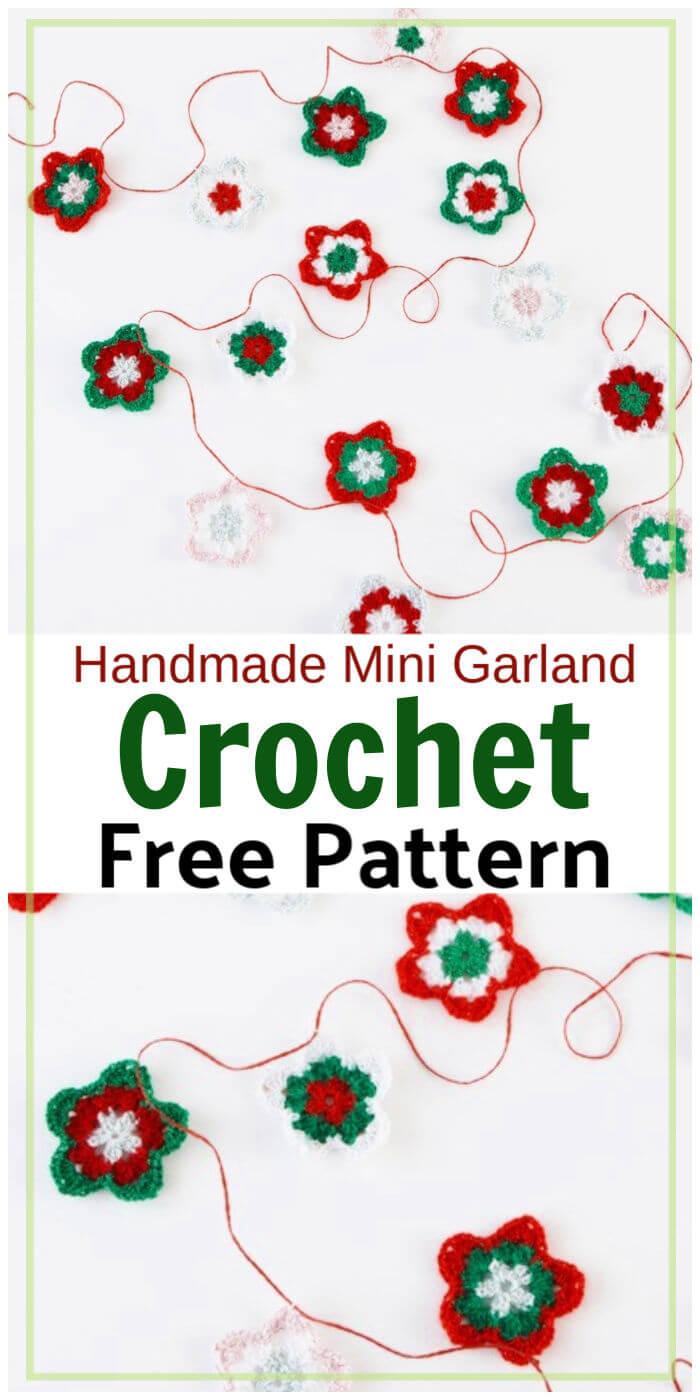 Crocheted Star Garland Free Pattern