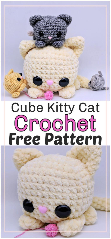 Cube Kitty Cat Free Crochet Pattern