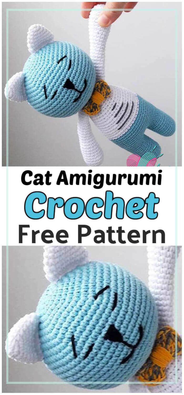 Easy Crochet Cat Amigurumi Free Pattern