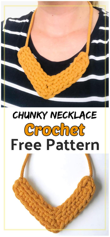 Free Crochet Chunky Necklace Pattern