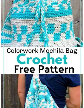 Free Crochet Colorwork Mochila Bag Pattern