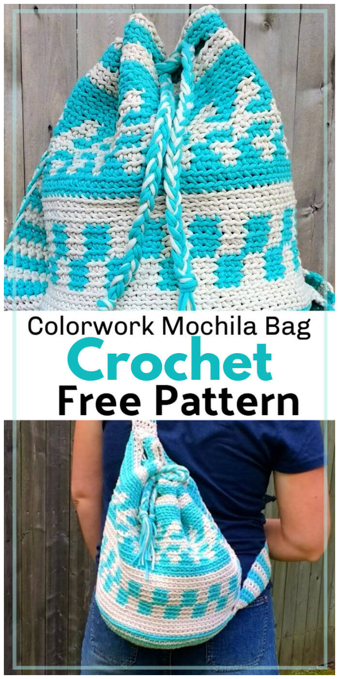Free Crochet Colorwork Mochila Bag Pattern