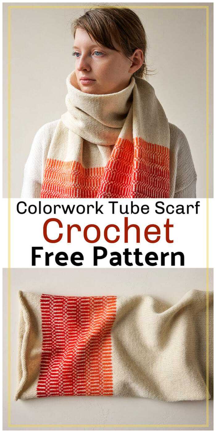 Free Crochet Colorwork Tube Scarf Pattern