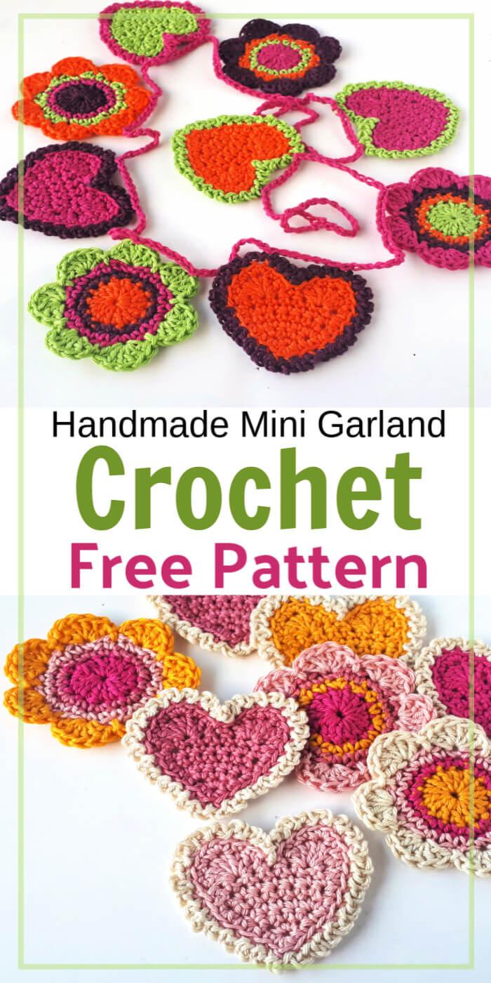 Free Crochet Garland for Valentine's Day Pattern