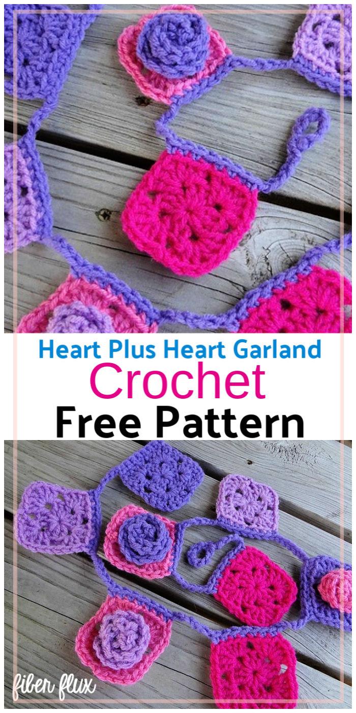 Free Crochet Granny Rosette Garland Pattern