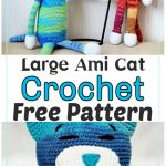 Free Crochet Large Ami Cat Pattern