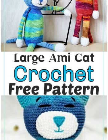 Free Crochet Large Ami Cat Pattern