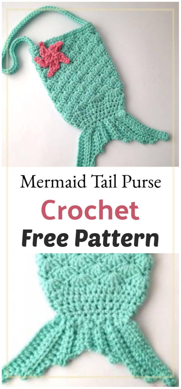 Mermaid Fish Tail Treat Bags -free crochet pattern-   Crochet baby ...   1500x700