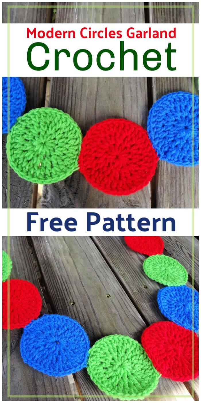 Free Crochet Modern Circles Garland Pattern