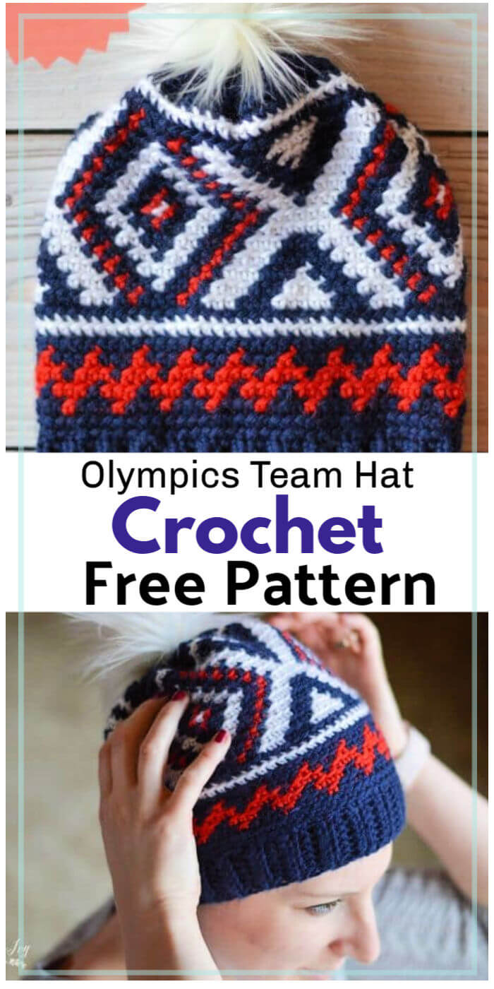 Free Crochet Olympics Team Hat Pattern