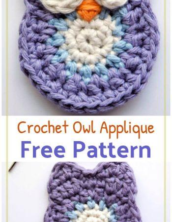Free Crochet Owl Applique Pattern