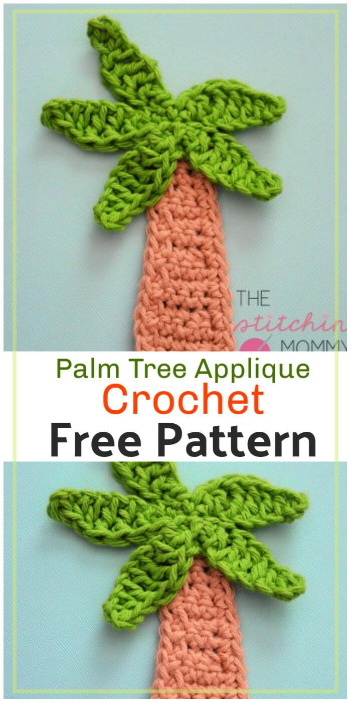 Free Crochet Palm Tree Applique Pattern