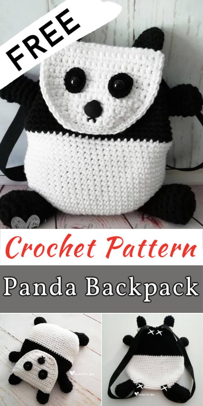 Free Crochet Panda Backpack Pattern
