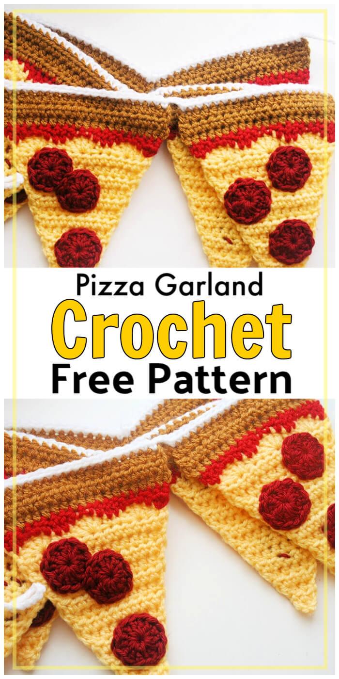 Free Crochet Pizza Garland Pattern
