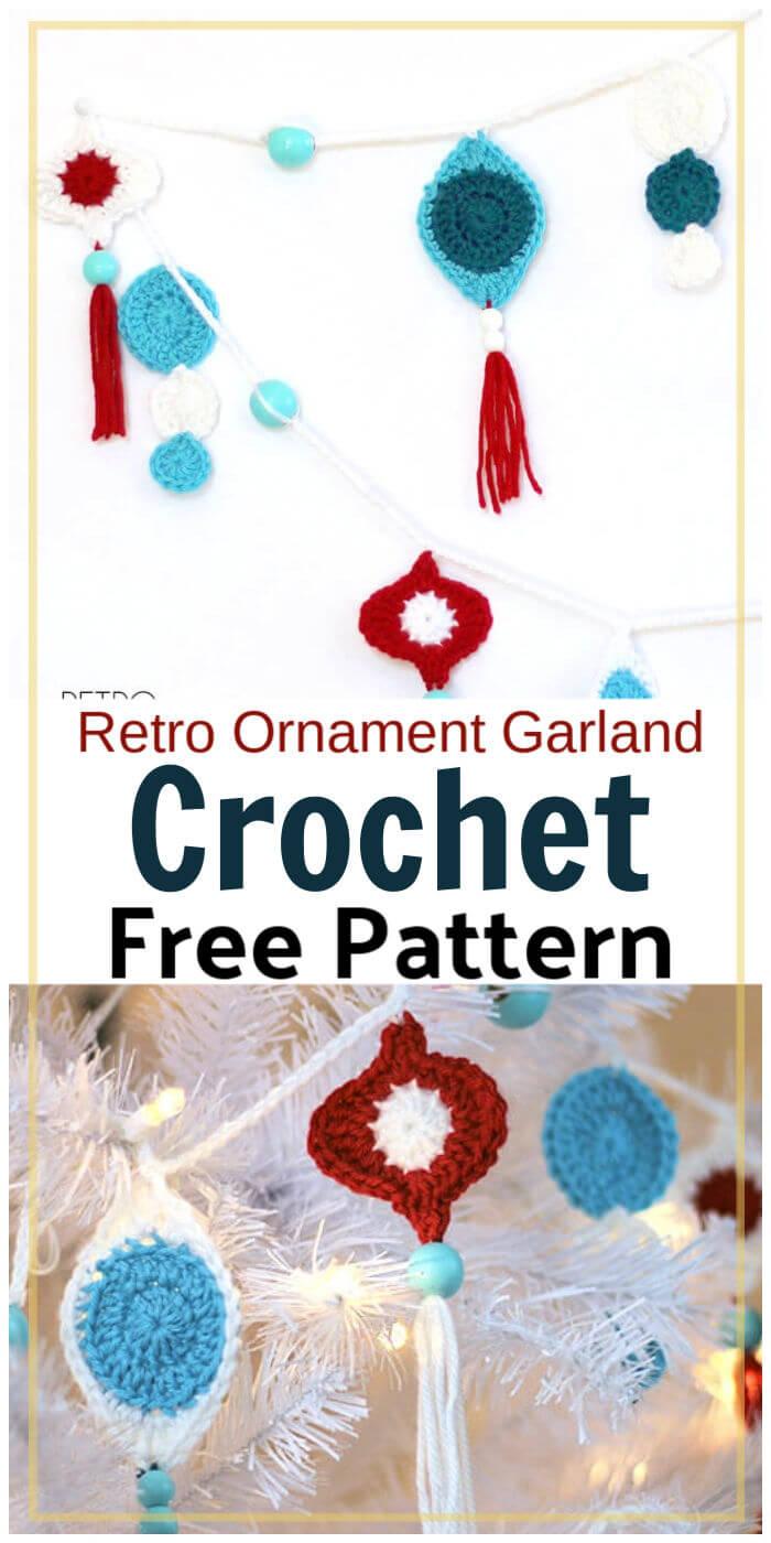Free Crochet Retro Ornament Garland Pattern