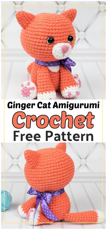 Ginger Cat Amigurumi Free Crochet Pattern