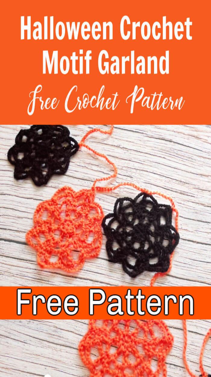 Halloween Crochet Motif Garland Pattern