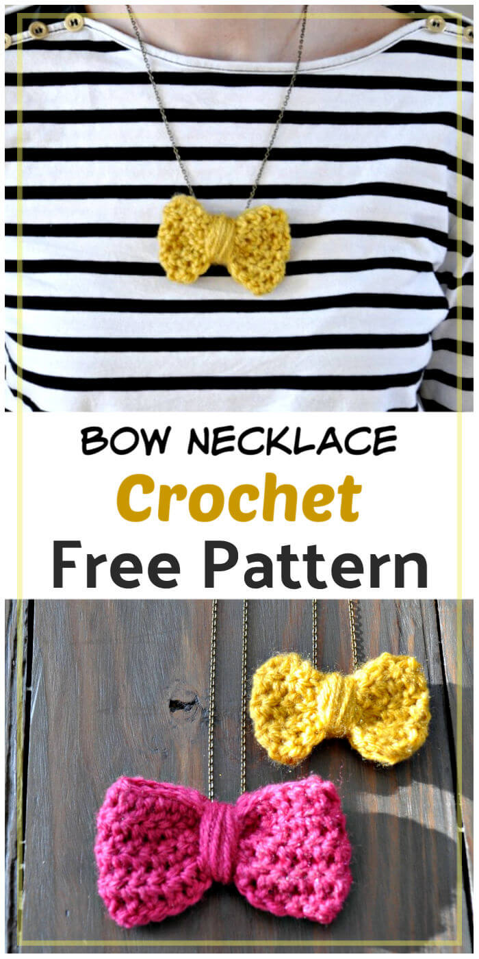 How to Crochet Bow Necklace