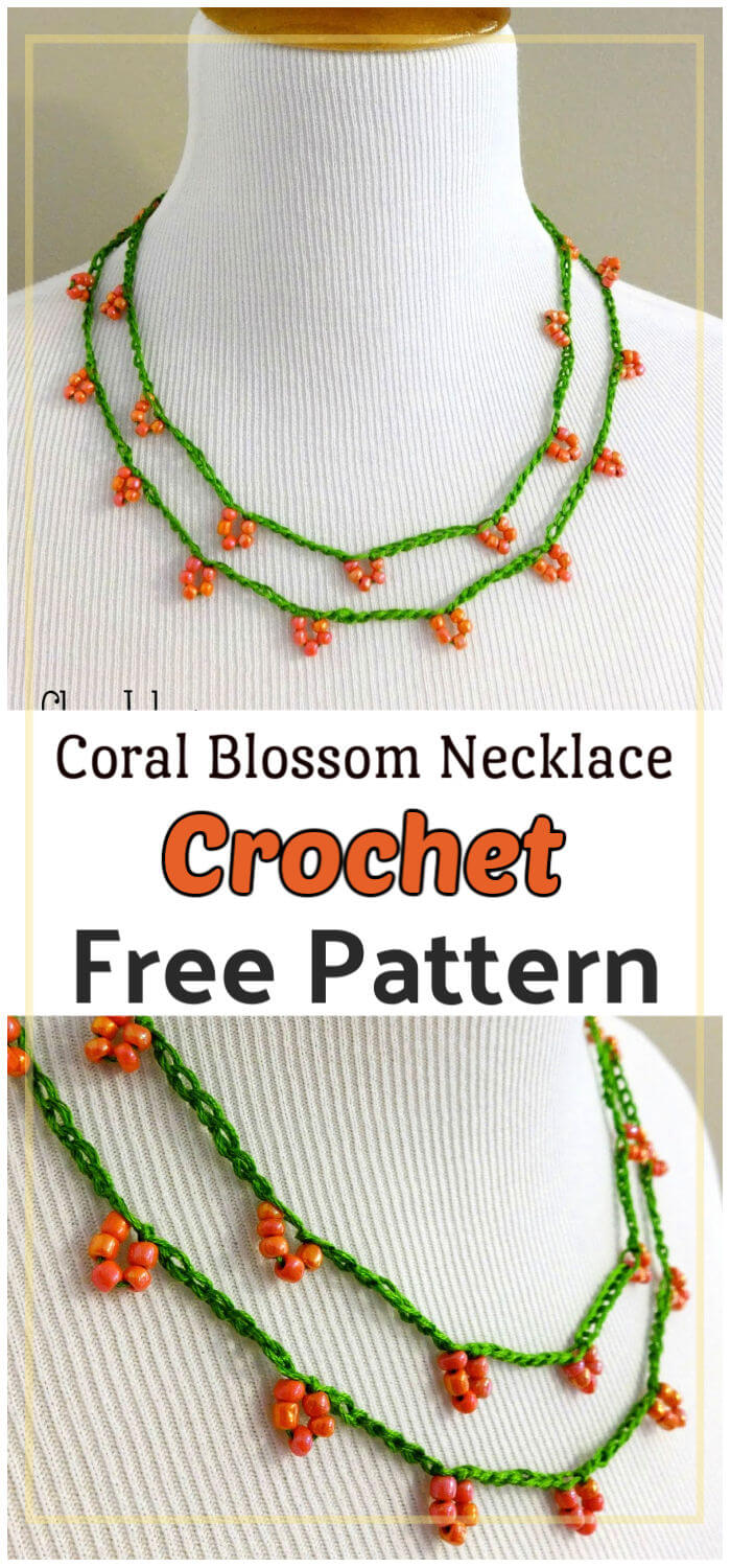 How to Crochet Coral Blossom Necklace