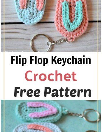 How to Crochet Flip Flop Keychain