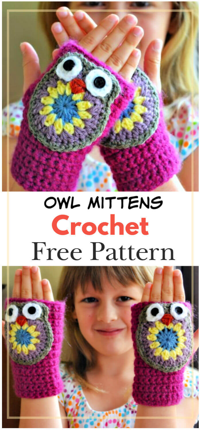How to Crochet Owl Mittens