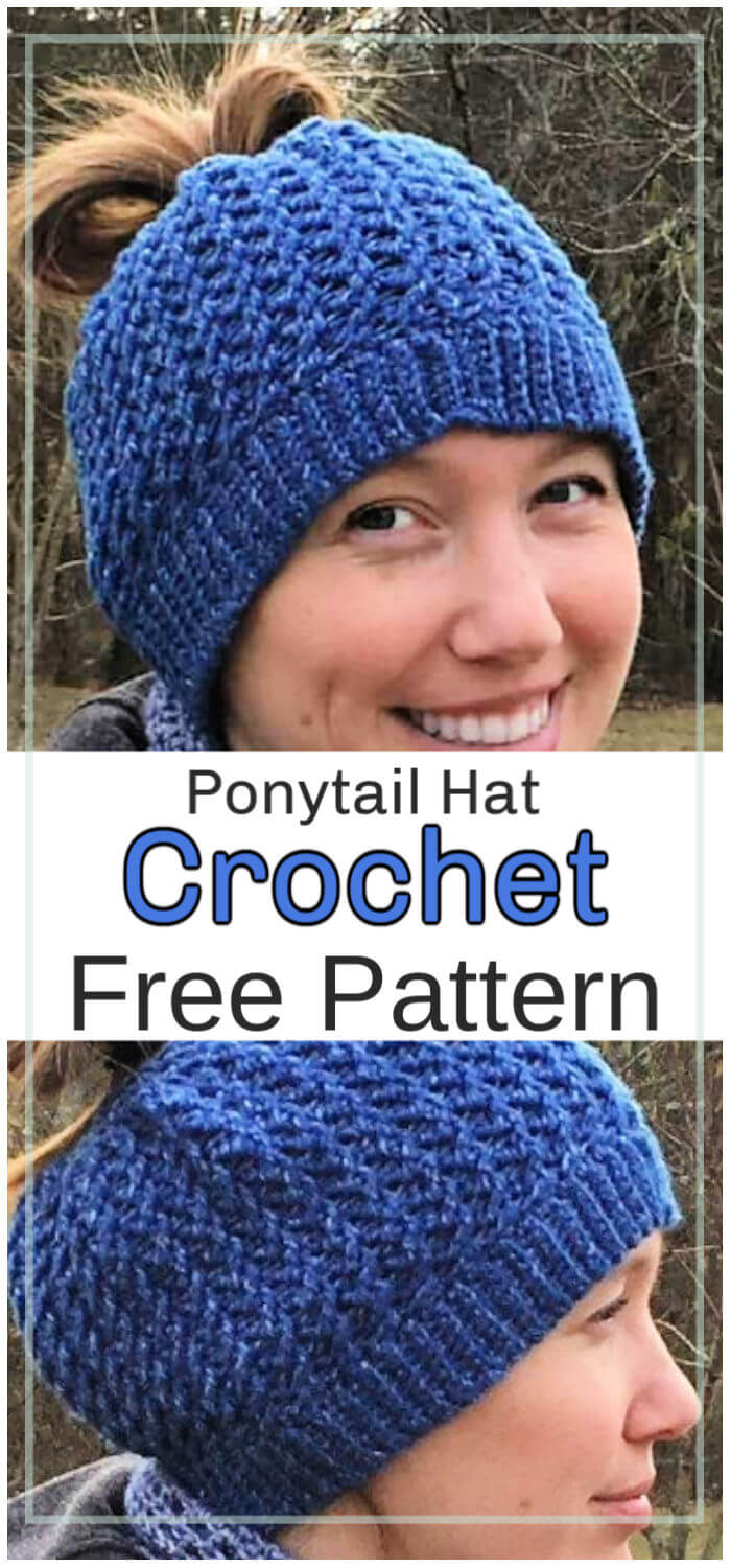 How to Crochet Ponytail Hat