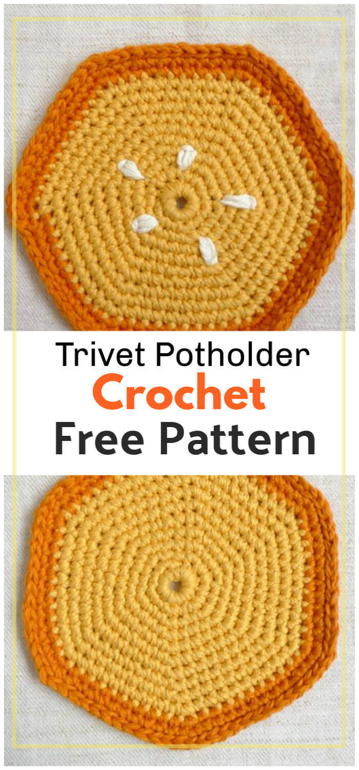 How to Crochet Trivet Potholder Pattern